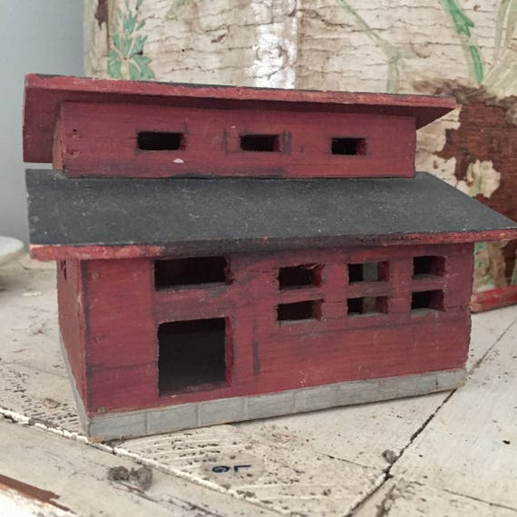 Primitive Folk Art Arts and crafts Chicken coop 1910 handmade