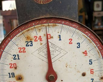 Primitive Rustic Antique Hanging Scale from Rustysecrets