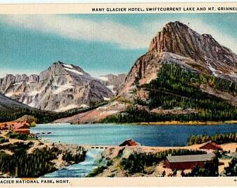 Vintage Montana Postcard - Many Glacier Region, Glacier National Park (Unused)