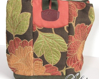 Upcycled Multipurpose Backpack | Trip Bag with Interior Pocket | Birthday Gift for Her | Shoulder Bag for Festival or Cycling | Red & Brown