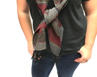 Shades of Him, Handwoven Twill Scarf