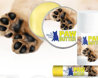BIG Dog PAW BUTTER Combo Pack: For Dry, Rough Dog Paw Pads 8 oz. Tin & 3 oz Tube and a .15 oz. on-the-go size Tube in Gift Bag