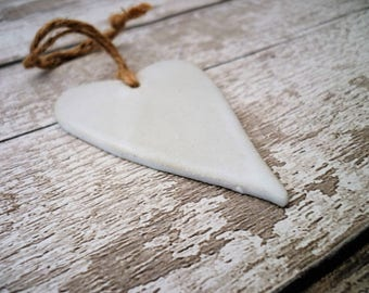 Ceramic Loveheart Hanger, gift idea, pottery, one off hand made