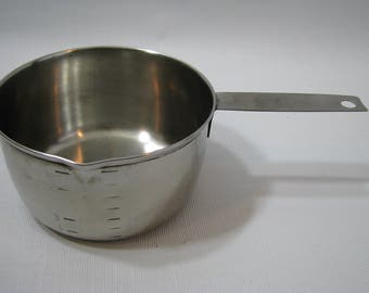 Foley Stainless Steel 2 Cup Measuring Cup Butter Warmer Sauce Pan Small Pot