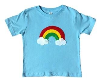 Aloha Rainbow - Kids Baby Blue Shirt – Boys or Girls