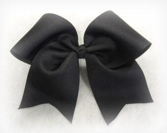 Cheer Bows, Black Cheer Bow, Girls Cheer Bows, Softball Bows, Team Bows, Dance Bows, Cheerleader Hair Bows, 7 inch bows, Practice Cheer Bows
