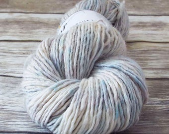 DK Yarn, Hand Dyed Alpaca/Merino/Silk Yarn, Hand Dyed Merino Yarn, Knitting Yarn, Handpainted, Double Knit Weight, Neutrality