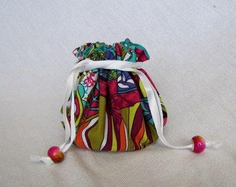 Jewelry Bag - Medium Size - Drawstring Tote - Fabric Pouch - Drawstring Bag - SWIZZLE SWISH