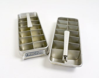 Vintage 1950s Ice Cube Tray / 50s Frigidaire Quickube Aluminum Ice Cube Trays / Sold Individualy