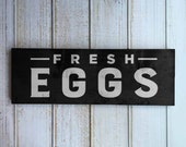 Fresh Eggs Sign | Modern Farmhouse Wall Art Decor