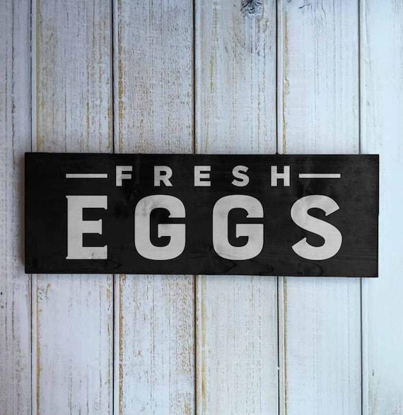 Fresh Eggs Sign Modern Farmhouse Wall Art Decor