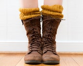 Hand Knit Boot Cuffs, Two Pairs