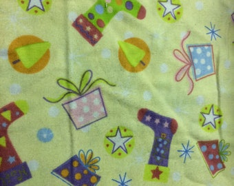Christmas Flannel Print 100% Cotton Flannel Fabric