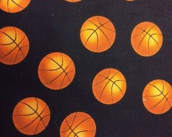 Basketballs Print 100% Cotton Fabric