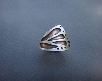 Multi-Metal Monarch Butterfly Ring