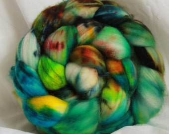 Super wash merino hand dyed combed top/ Roving  (4.1 oz) #13