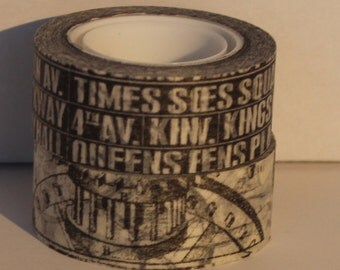 "Set of Tim Holtz Merriment Washi Tape Idea-ology Tissue Tape Tim Holtz Idea-Ology Subway Roll and Steampunk Gears ""Commute"" Discontinued"