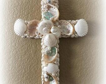 Sweet Grace Seashell Cross