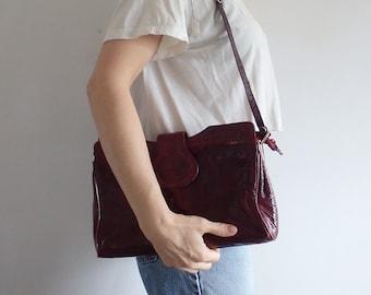 Eel Skin Purse Vintage Shoulder Bag Clutch