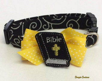 Bible Dog Collar Size XS Through Large by Doogie Couture