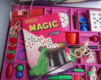 Vintage Magic Set Merit Magic Box Set Made in England