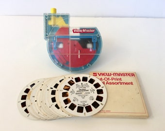 Vintage View Master and Reels View Master 3D Disney Mickey Mouse Duck Tales Ghostbusters Out of Print 1980s Classic Toy
