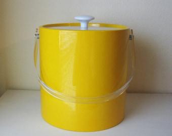 Sunny Yellow Vintage Ice Bucket