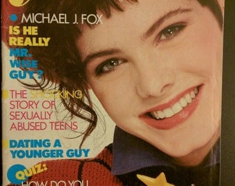 ym Young Miss magazine teen 1980s 1985 Michael J. Fox eighties saved by the bell music fashion