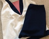 The Mary Ann:  Nautical Vintage Bathing Suit, c 1960
