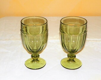 Vintage Plastic Coated Swirled Glasses Set Of By