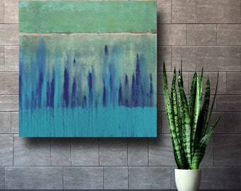 Art Painting ORIGINAL Painting Free Shipping Acrylic Abstract  Coastal Beachy  Large Wall Art Coastal Home Decor modern Turquoise blue green