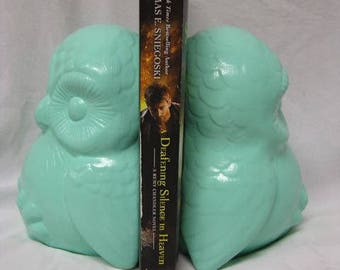 Baby Owl Book Ends Mint Green