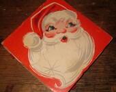 Vintage Holt Howard Christmas Matchboxes with Santa Claus