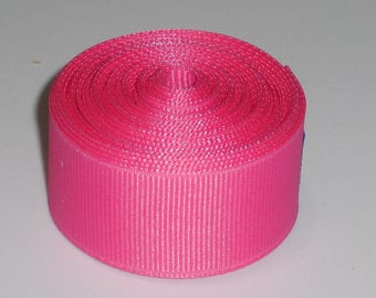 Hot Pink 7/8 inch Solid Grosgrain Ribbon 10 yards