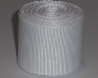 White 1.5 inch Solid Grosgrain Ribbon 10 Yards