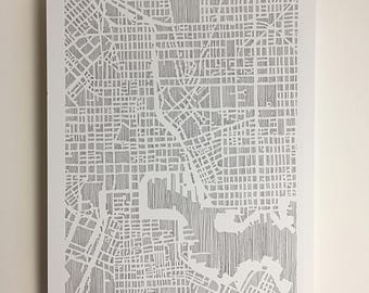 baltimore map print, 11x14