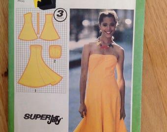 Uncut Simplicity 9452 Halter Sun Dress or sleeveless tube top - Size 6-8