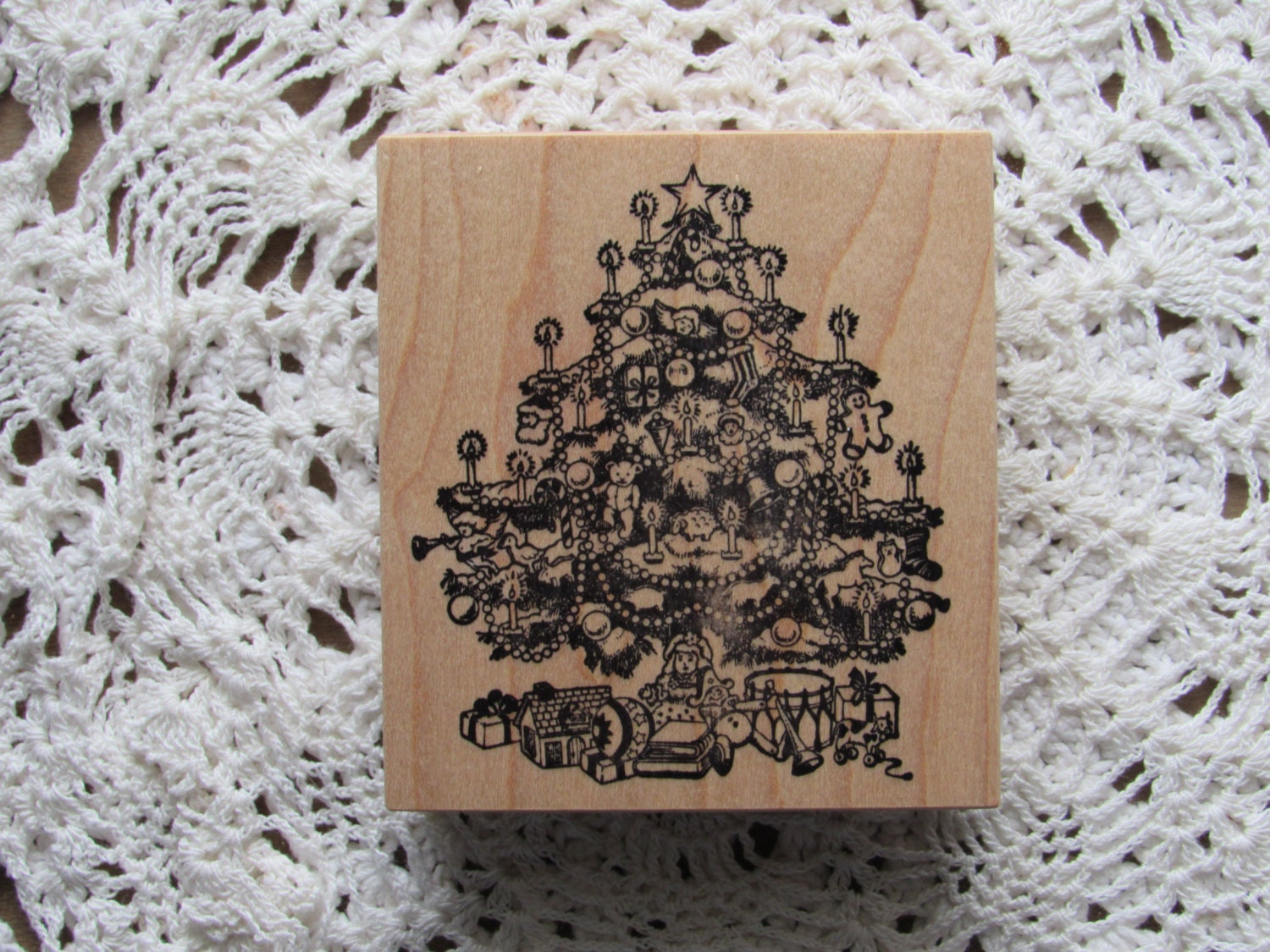Stamp For Scrapbooking Or Card Making Christmas Tree Unused Rubber