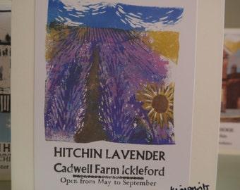 Hitchin Prints Card: Hitchin Lavender
