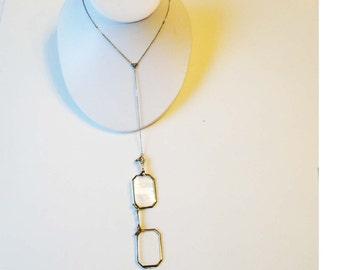 Antique Lorgnette Hand-Held Eyeglass Sterling Silver