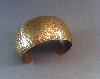 Vintage Hammered Brass Cuff Bracelet, Arts and Crafts Style Bracelets, Hand Hammered Bracelets, Arts and Crafts, Artisan Brass, **USA ONLY**