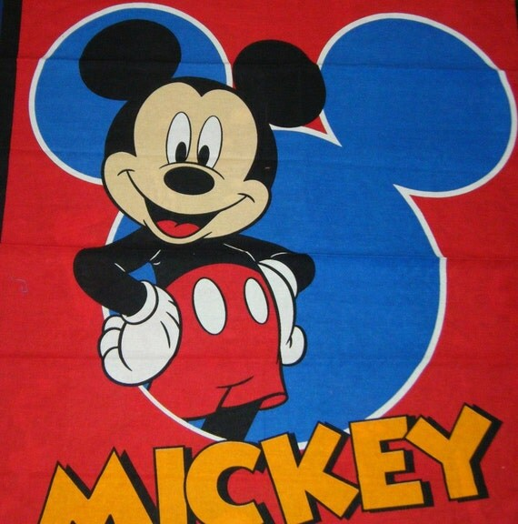 Fabric Wall Hanging Panel Cheater Quilt Mickey Mouse Play