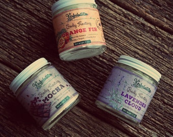 3 Body Frostings set - you choose which ones. Vegan Organic Body Lotion. With Shea butter