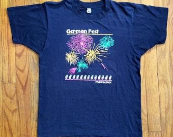 Milwaukee German festival fireworks super soft paper thin t shirt small medium
