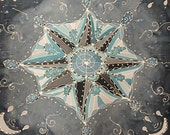 Cloudy Blue Star Mandala ...