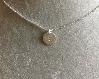 Semicolon necklace --hand stamped Sterling silver. Your story isn't over. Depression mental illness hope strength suicide prevention