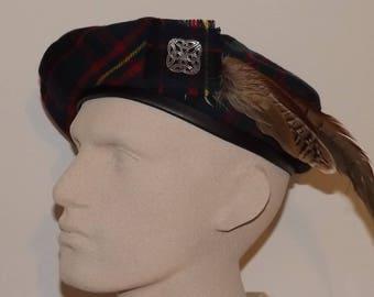 Men's Scottish Bonnet, Celtic Tam, Tartan Beret, Cameron of Erracht Tartan Tam