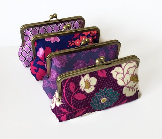 Wedding Attendants Gifts: Items Similar To Bridesmaids Clutch, Customized Wedding