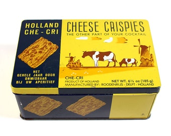 Vintage Cheese Crispies Tin, Holland Che-Cri