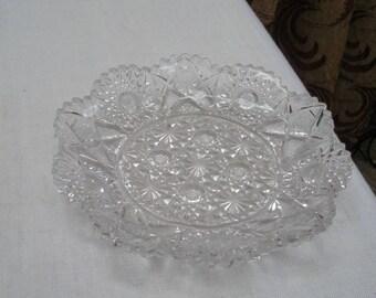 Vintage Westmoreland Deep Cut Pressed Glass Plate
